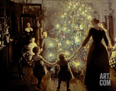 Silent Night, 1891 Stretched Canvas Print
