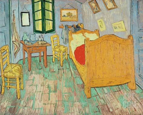 Van Gogh's Bedroom at Arles, 1889 Stretched Canvas Print