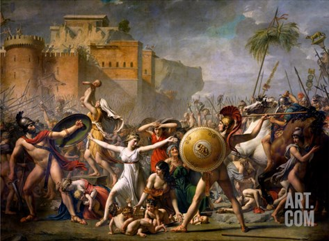 The Sabine Women, 1799 Stretched Canvas Print