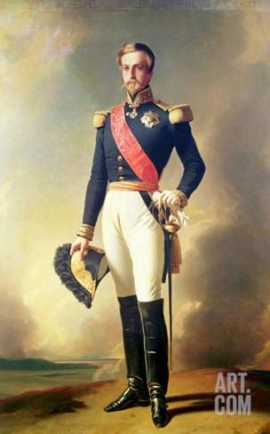 Portrait of Henri-Eugene-Philippe-Louis D'Orleans Duke of Aumale, 1846 Stretched Canvas Print