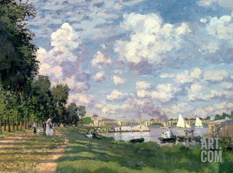 The Marina at Argenteuil, 1872 Stretched Canvas Print