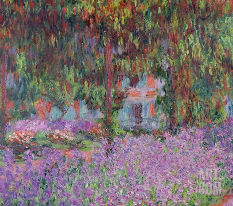 The Artist's Garden at Giverny, 1900 Stretched Canvas Print