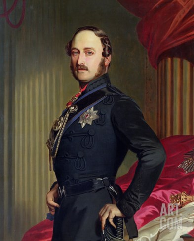 Portrait of Prince Albert 1859 Stretched Canvas Print
