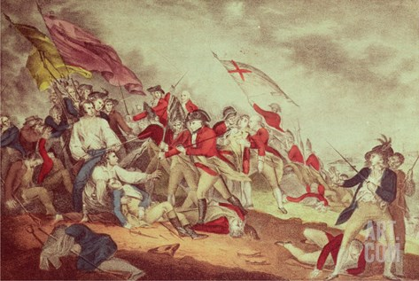 Battle at Bunker's Hill Stretched Canvas Print