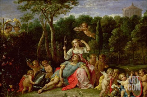 The Garden of Armida Stretched Canvas Print