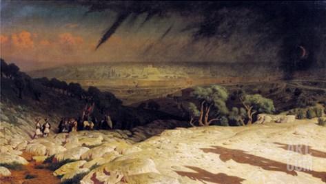 Jerusalem 1867 Stretched Canvas Print