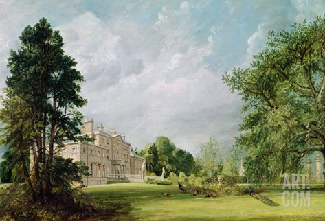 Malvern Hall, Warwickshire, 1821 Stretched Canvas Print