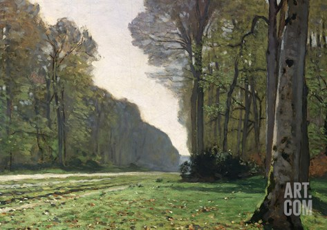 The Road to Bas-Breau, Fontainebleau, circa 1865 Stretched Canvas Print