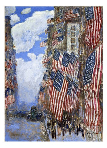The Fourth of July, 1916 Stretched Canvas Print