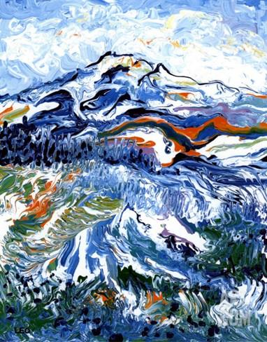 Mt Rainier Stretched Canvas Print