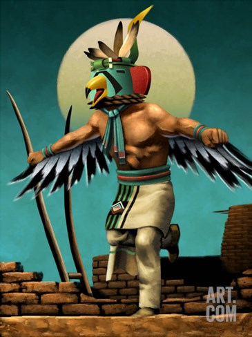 Hopi Eagle Dancer Kachina Stretched Canvas Print