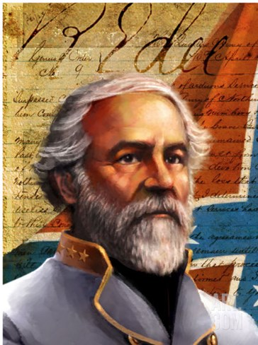General Robert E. Lee Stretched Canvas Print