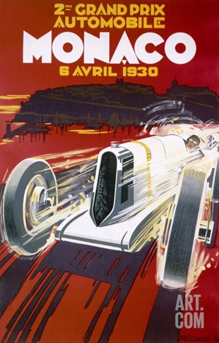 Monaco Grand Prix, 1930 Stretched Canvas Print