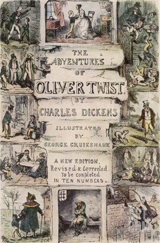 Oliver Twist by Charles Dickens Stretched Canvas Print