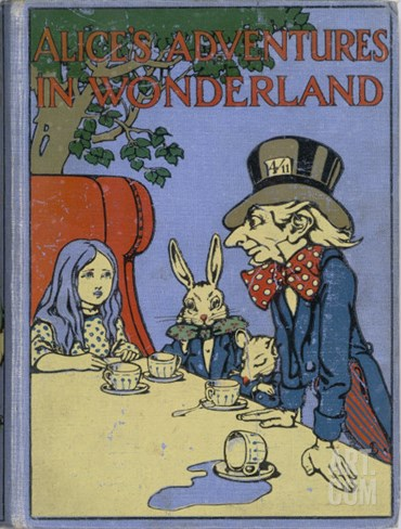 The Mad Hatter's Tea Party is Featured on the Cover of the 1916 Edition Published by Cassell Stretched Canvas Print