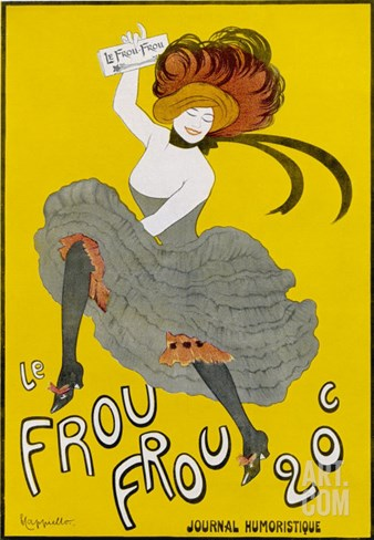 Poster for Le Frou-Frou Humorous Magazine Stretched Canvas Print