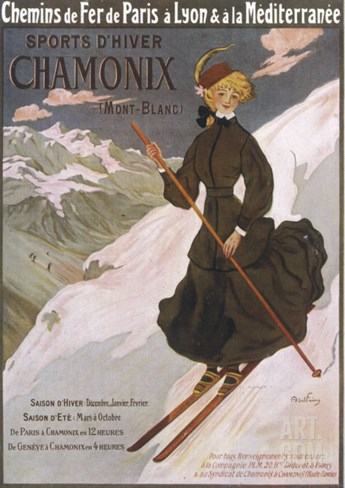 Come to Chamonix for the Very Finest Skiing Stretched Canvas Print