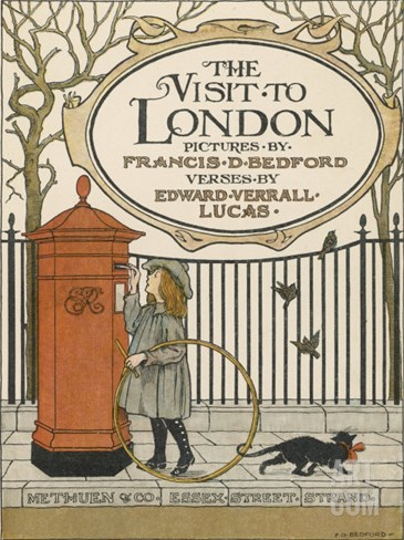 Visitor to London Posts a Letter Back Home Stretched Canvas Print