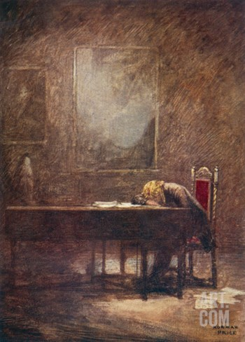 Frederic Chopin Polish Musician Composing His C Minor Etude Stretched Canvas Print