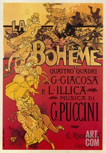Puccini, La Boheme Stretched Canvas Print