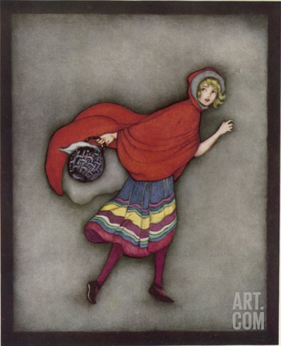 Little Red Riding Hood Stretched Canvas Print