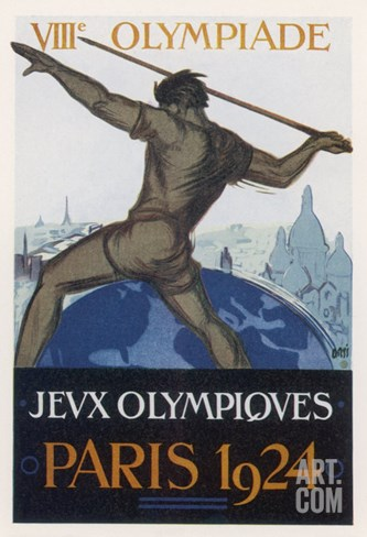 Poster for the Paris Olympiad Stretched Canvas Print