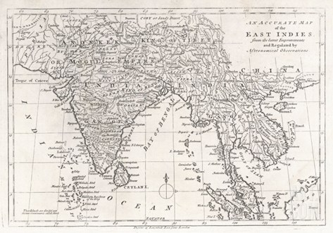 India and Its Neighbours: Note That Burma is Named India Beyond the Ganges Stretched Canvas Print