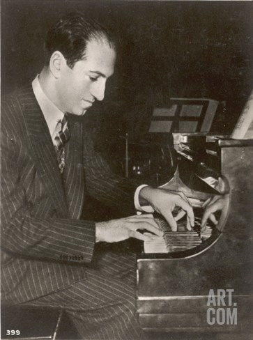 George Gershwin American Composer Stretched Canvas Print