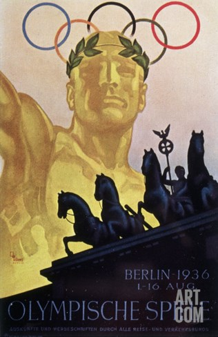 Olympic Games, Berlin, 1936 Stretched Canvas Print