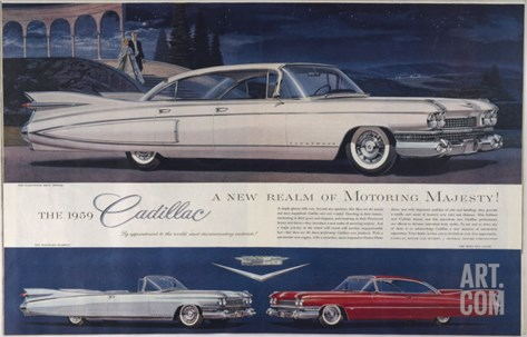 Single Glance Tells You, These are the Newest and Most Magnificent Cadillac Cars Ever Created Stretched Canvas Print