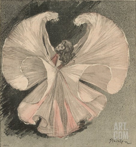 Loie Fuller (Mary Louise Fuller) American Dancer at the Folies Bergere Paris Stretched Canvas Print