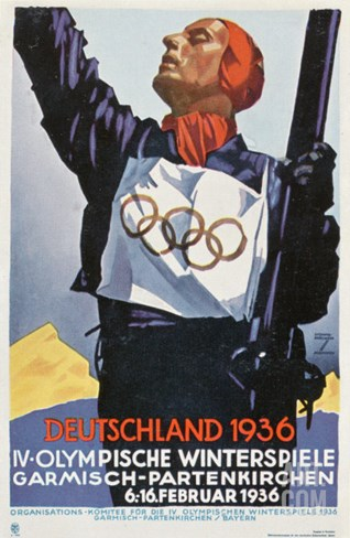 1936 Berlin Winter Olympics Stretched Canvas Print