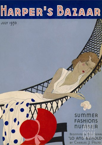 Harper's Bazaar, July 1930 Stretched Canvas Print
