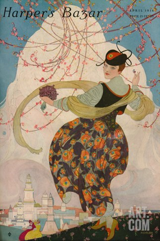 Harper's Bazaar, April 1916 Stretched Canvas Print