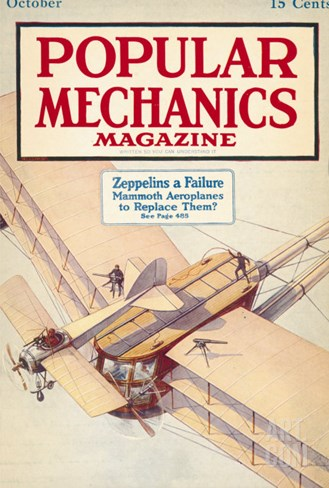 Popular Mechanics, October 1916 Stretched Canvas Print