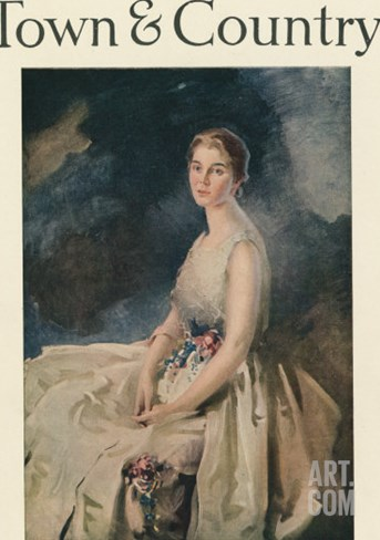 Town & Country, March 1st, 1917 Stretched Canvas Print