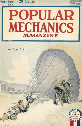 Popular Mechanics, October 1918 Stretched Canvas Print