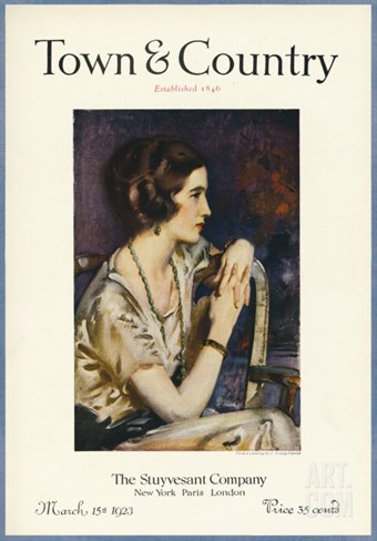 Town & Country, March 15th, 1923 Stretched Canvas Print