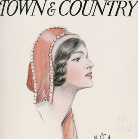Town & Country, January 24th, 1914 Stretched Canvas Print