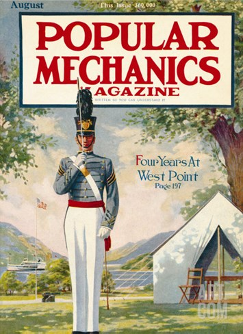 Popular Mechanics, August 1913 Stretched Canvas Print