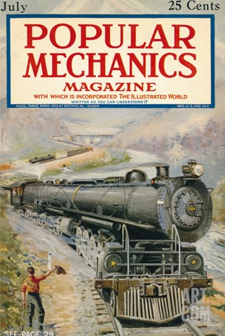 Popular Mechanics, July 1923 Stretched Canvas Print