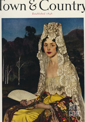 Town & Country, April 15th, 1923 Stretched Canvas Print