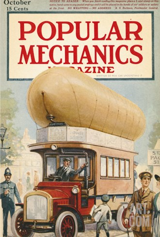 Popular Mechanics, October 1917 Stretched Canvas Print