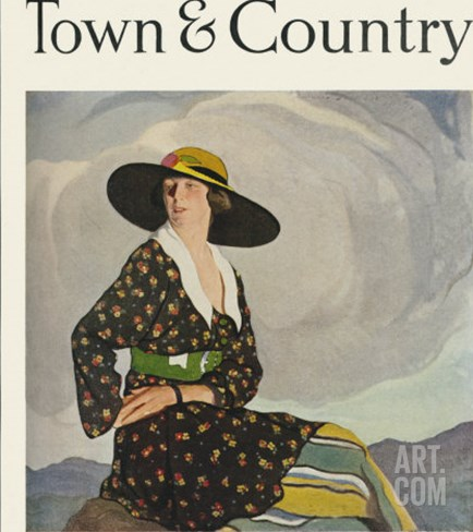 Town & Country, March 1st, 1919 Stretched Canvas Print