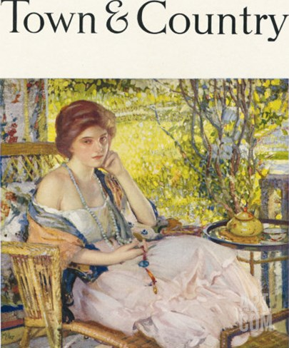 Town & Country, February 10th, 1918 Stretched Canvas Print