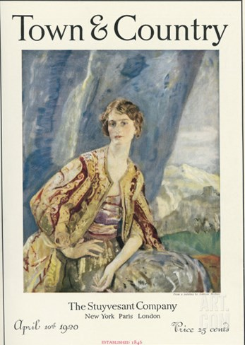 Town & Country, April 10th, 1920 Stretched Canvas Print