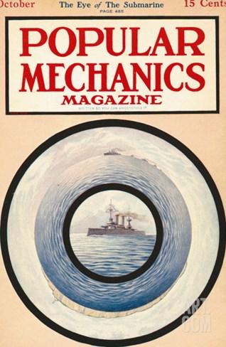 Popular Mechanics, October 1915 Stretched Canvas Print