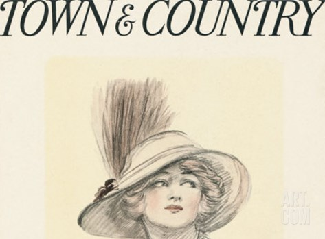 Town & Country, April 25th, 1914 Stretched Canvas Print
