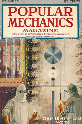 Popular Mechanics, November 1923 Stretched Canvas Print