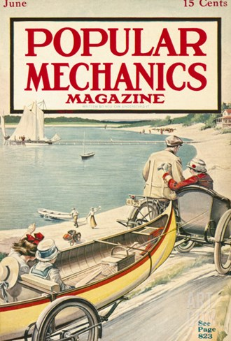 Popular Mechanics, June 1915 Stretched Canvas Print